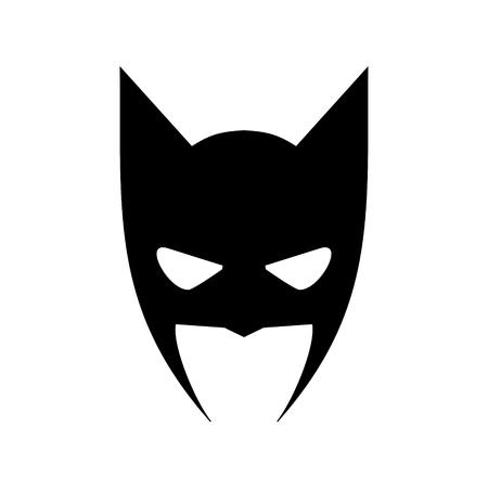 Illustration pour Portrait of angry man in superhero mask vector icon - image libre de droit