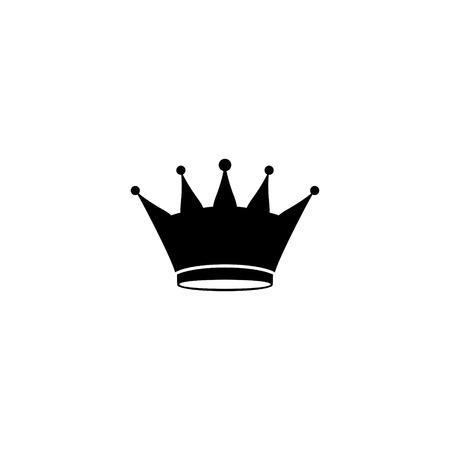 Illustration pour crown in a flat background of vector icon - image libre de droit