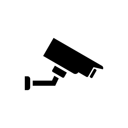 Illustration for Security camera vector icon - Royalty Free Image