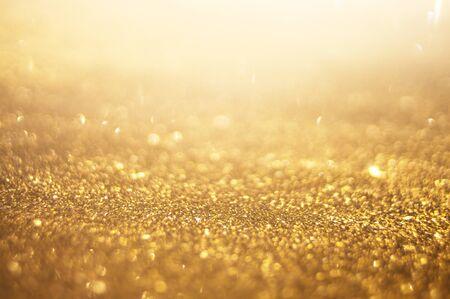 Foto de golden sparkle, abstract bokeh background - Imagen libre de derechos