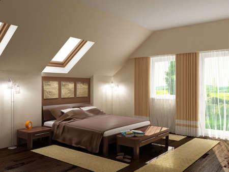 Foto de Interior design series: 3D interior - Imagen libre de derechos