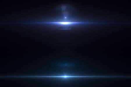 Photo pour Lens flare effect in space 3D render - image libre de droit