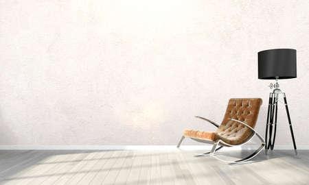 Photo pour Bright interior in a modern style . 3D render - image libre de droit