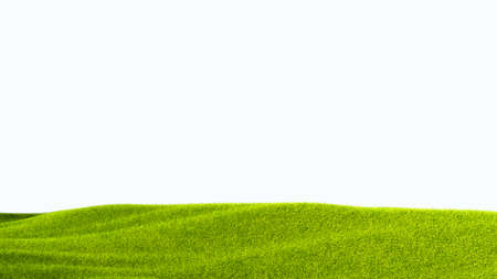 Foto de green field isolated against a white background - Imagen libre de derechos