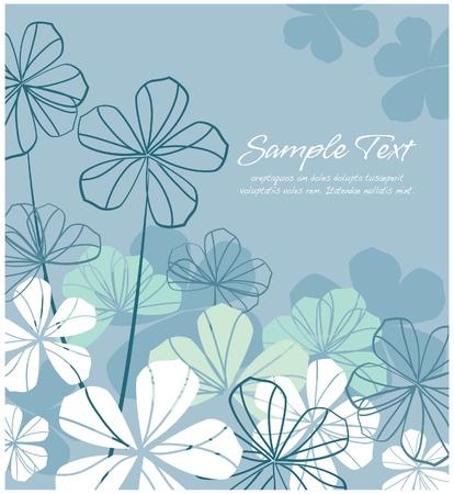 Illustration pour Abstract floral  blue layout  - image libre de droit