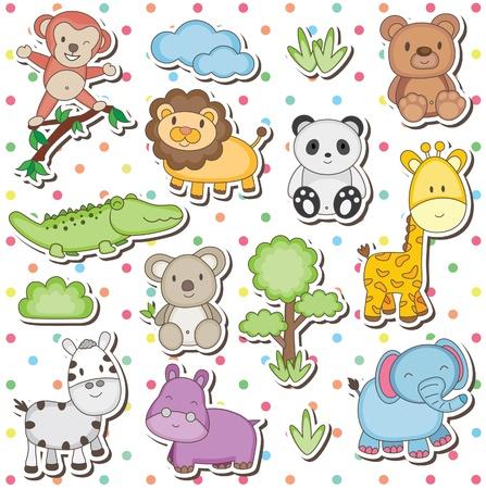 Foto de Happy wild animals clip art - Imagen libre de derechos
