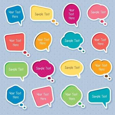 Illustration pour Cute dialog box digital clip art - image libre de droit