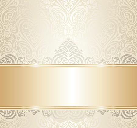Ilustración de white   gold vintage invitation luxury background design - Imagen libre de derechos
