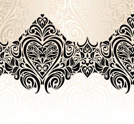 wedding vintage decorative floral invitation background design 写真