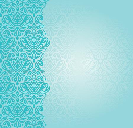 Ilustración de Fashionable blue-green retro turquoise invitation design - Imagen libre de derechos