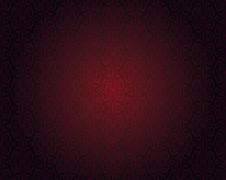 Illustration pour Dark red wallpaper repitable gradient background pattern - image libre de droit