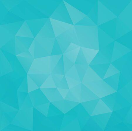 Illustration pour Low poly Geometric facet triangular greenTurquoise banner background - image libre de droit