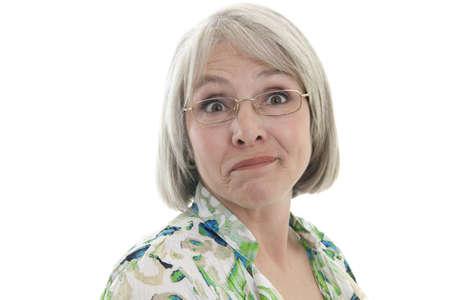 Foto für Mature, attractive Caucasian woman with a humorous expression - Lizenzfreies Bild