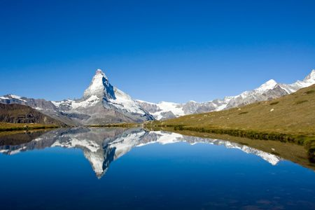 Photo pour Panorama of the Matterhorn - image libre de droit