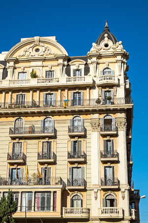 An old historic building seen in the heart of Barcelona, ??Spain