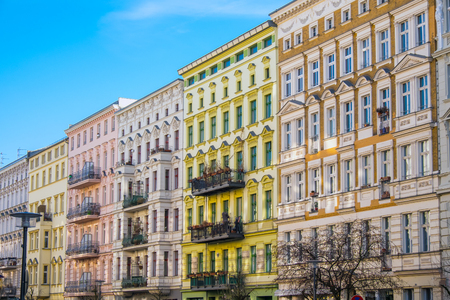 Beautiful restored houses at the Prenzlauer Berg district in Berlin