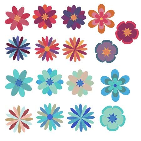 Ilustración de Flowers decorative set - Imagen libre de derechos