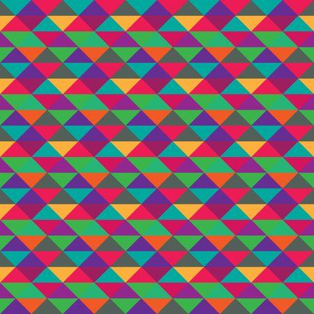 Seamless triangle geometric multicolored pattern