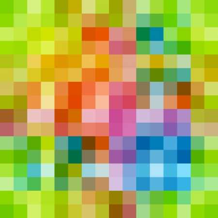 Rainbow colored rows of rectangles