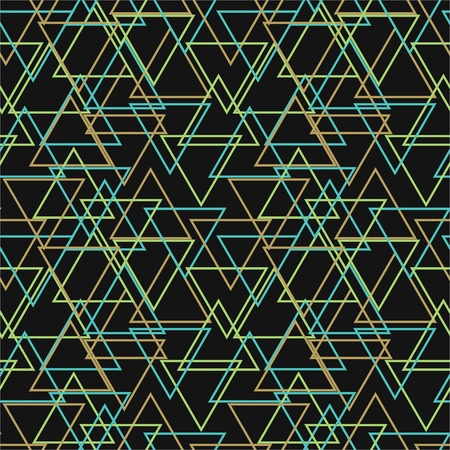 Seamless abstract pattern with multicolored triangles