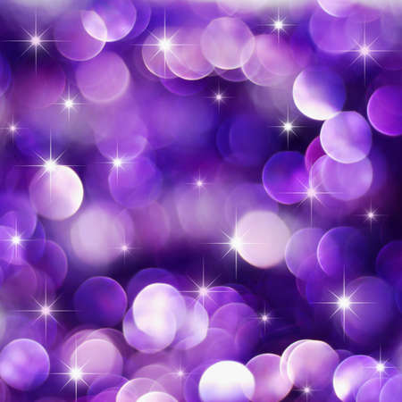 Christmas deep purple lights background with little stars