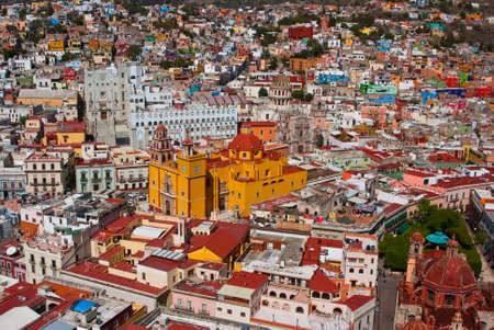 Aerial vista of vibrant Guanajuato Mexico