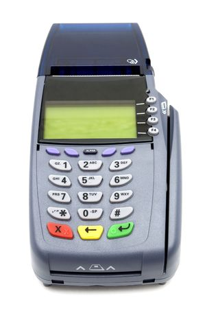 Modern POS terminal with magnetic stripe and chip reader