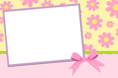Blank template for greetings card, postcard or photo frame