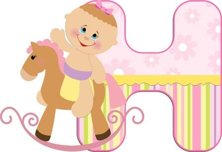 Baby's illustrated ABC alphabet