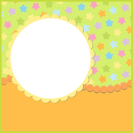 Blank colorful template for greetings card or photo frame