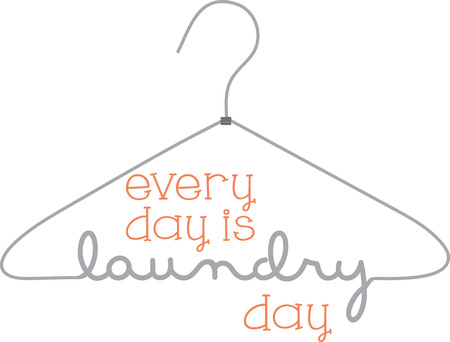 Hang up the laundry on this cleverly designed hanger graphic.  Use it for a door hanger or a part of a decoration for your laundry room.