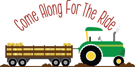 Have fun on this tractor hayride to your pumpkin patch project.