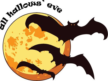 All hallows' eve is a scary night.  Use this image in your Halloween design.