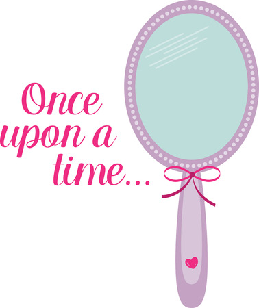 Use this princess mirror for a little girl's dress hem.