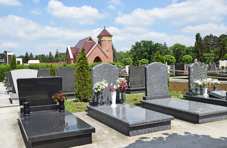 Tomb Stones and the public chapel in the cemetery