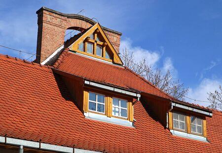Photo pour Roof of the clinic building - image libre de droit