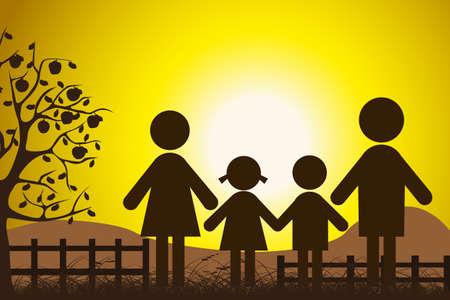 glÃŒckliche Familie
