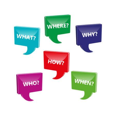 Questions speech bubbles