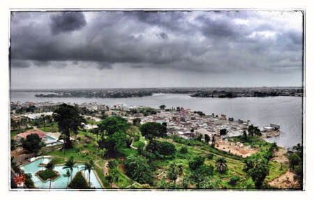 View of the Lagune in Abidjan Ivory Coast West Africa