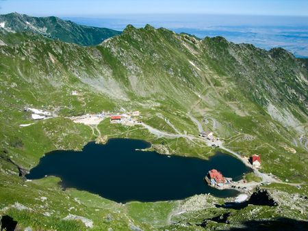Balea Lake (2040 m alt), Fagaras Mountains, Landscape of Romania