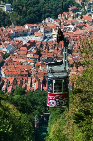 From Brasov medieval downtown you can reach Tampa mountain 955 m with the Cable Car