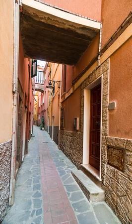 Narrow medieval street in Ma