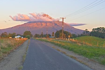 Massive volcano close to urbanized areas.