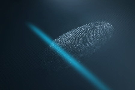 Fingerprint scanner. Fingerprint identification