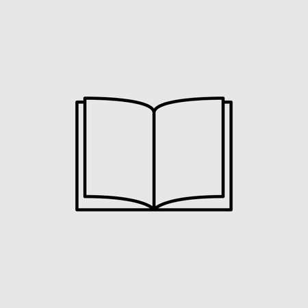 Illustration pour Book vector icon. Lined flat sign for mobile concept and web design. Open book glyph icon. Symbol,  illustration. Vector graphics - image libre de droit