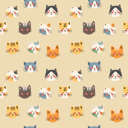 Photo for Cat  avatar seamless  background - Royalty Free Image