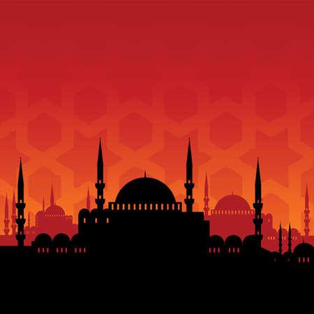 Illustration pour mosque - image libre de droit