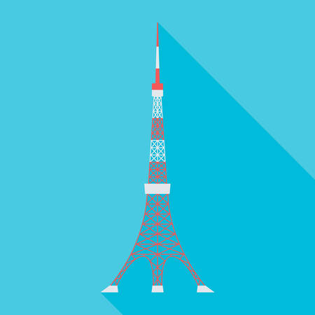 vector illustration of the Tokyo Tower