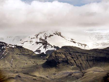 View of Skaftafell glacier in Skaftafell National Park in Iceland.