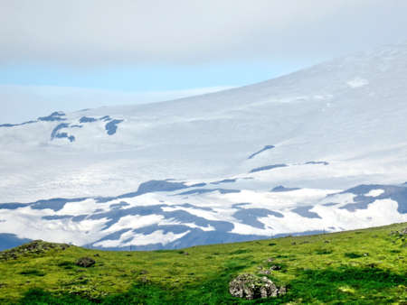 The mountain in Skaftafell National Park in Iceland, July 7, 2017